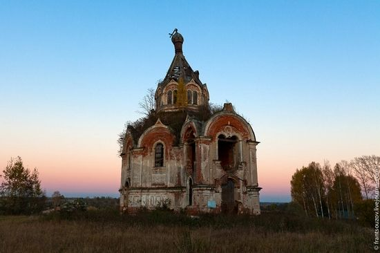 Tver oblast, Russia abandoned church