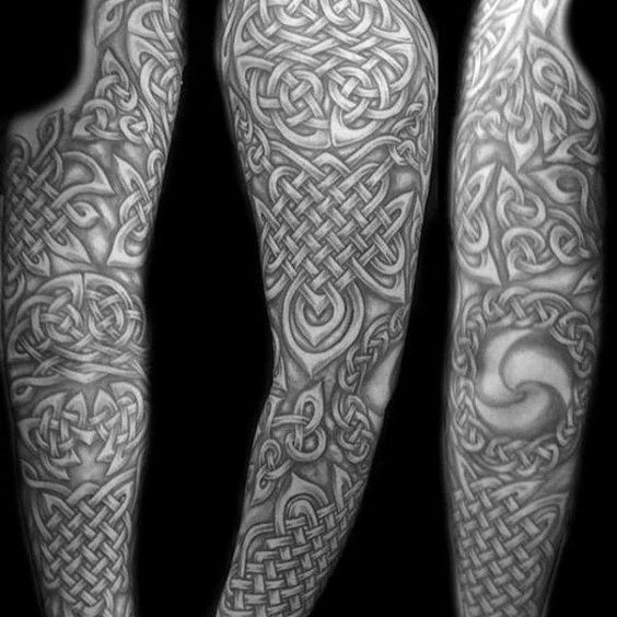Top 43 Celtic Sleeve Tattoo Ideas 2020 Inspiration Guide Celtic Sleeve Tattoos Sleeve Tattoos Tattoo Sleeve Designs