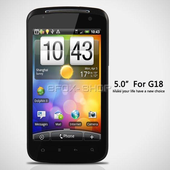 G18 Android2.3 5 Zoll Multi-Touch Kapazitativ Handy Dual-Modus Dual Standby+WIFI+GPS+Dual Kamera günstig