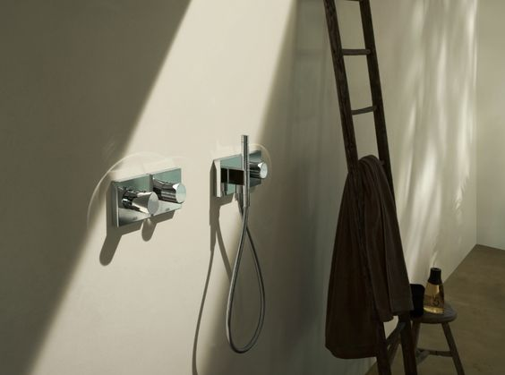 Hansgrohe Axor shower controls.