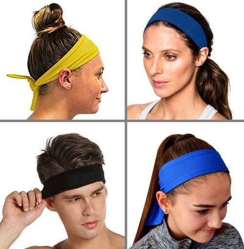 Sport Headbands Soft And Breathable Fabric That Wicks Perspiration And Dries Quickly No More Burning Sweat In Your Sports Headbands Sports Head Swimmers Hair