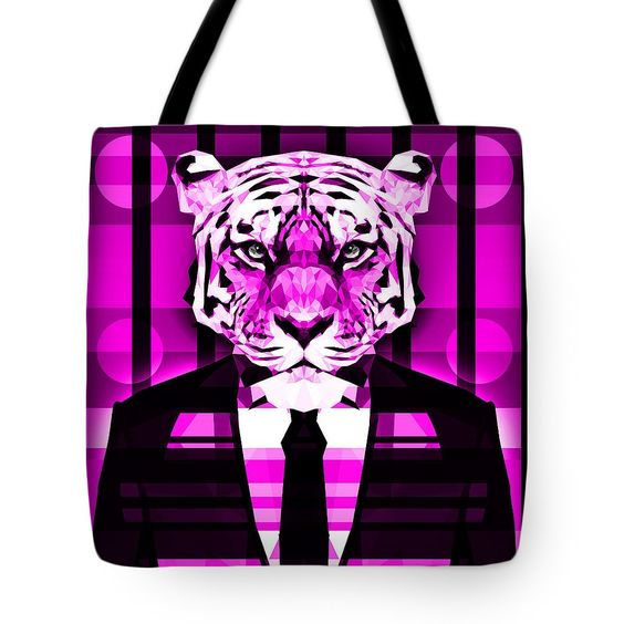 Geometric Abstract Tiger Purple Tote Bag 23.50 on http://pixels.com/products/abstract-tiger-2-filip-aleksandrov-tote-bag.html