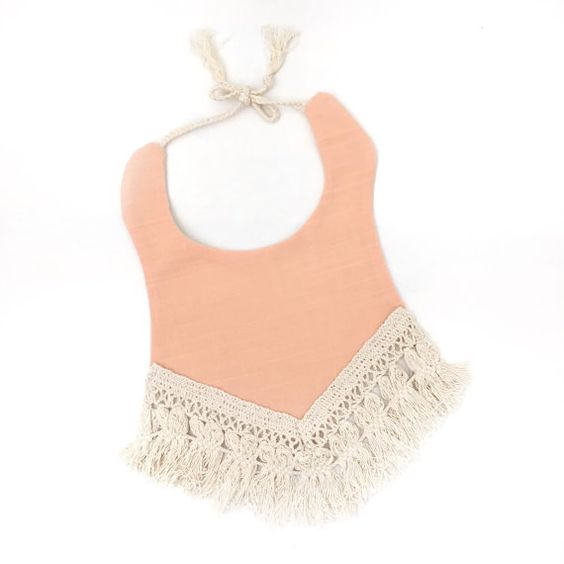 Hey, I found this really awesome Etsy listing at https://www.etsy.com/ca/listing/245908812/boho-fringe-baby-bib-indian-coral