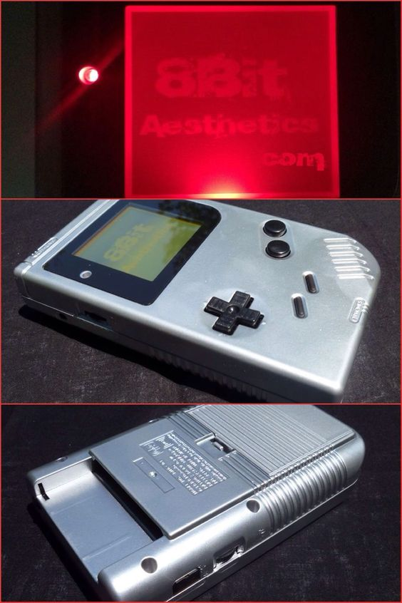 Chrome original Gameboy! Message us at www.8bitaesthetics.com to place your custom order!