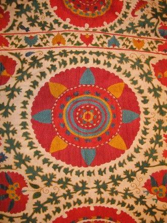 """Uzbek embroidered """"suzani"""" kilim"""
