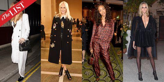 #THELIST BEST DRESSED: LONDON FASHION WEEK SPRING 2017