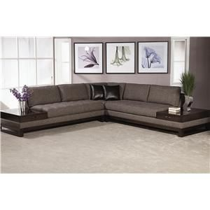 Madison Sectional Sofa With Built In End Tables With A Drawer By Schnadig Howell Furniture