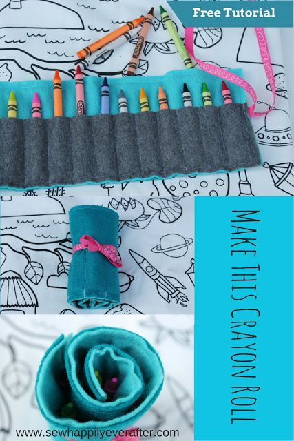 Sew Happily Ever After: FREE Crayon Roll Tutorial