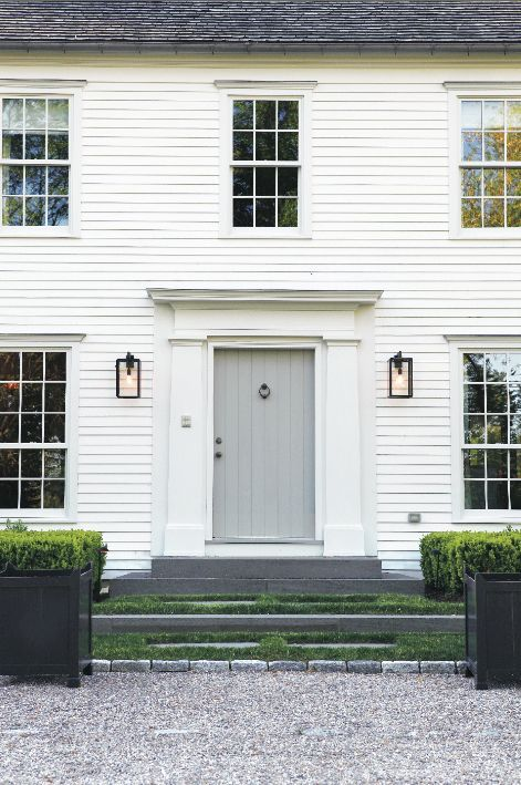 White on white lighting grey and front doors - Front doors on white houses ...