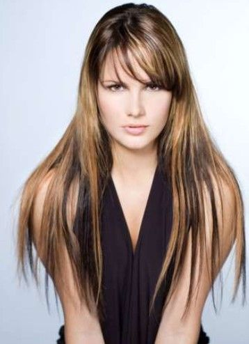 Long Brown Hair Highlights Styles