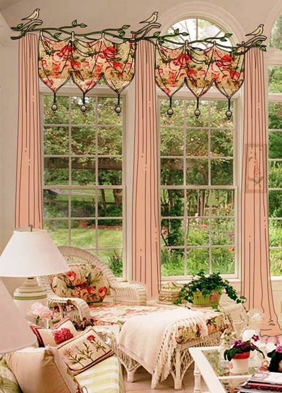 Pink Shabby Chic.  Okay, I know it's probably just me but the center portion could be made with table runners for a DIY on the cheap.