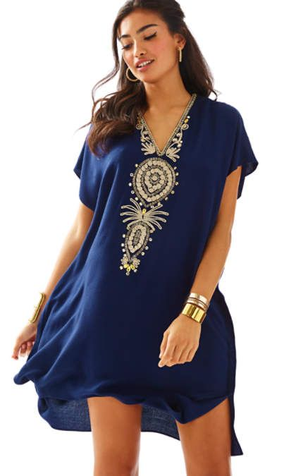 love the detail on this caftan, so pretty - Lilly Pulitzer