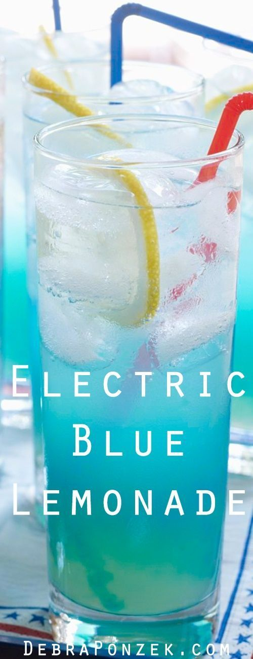 Looking for a delicious blue cocktail? This Electric Blue Lemonade is perfect for happy hour!