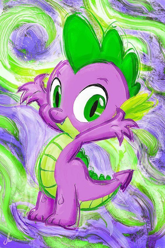 Spike  mi amistad de Pony poco es magia Art Print Poster