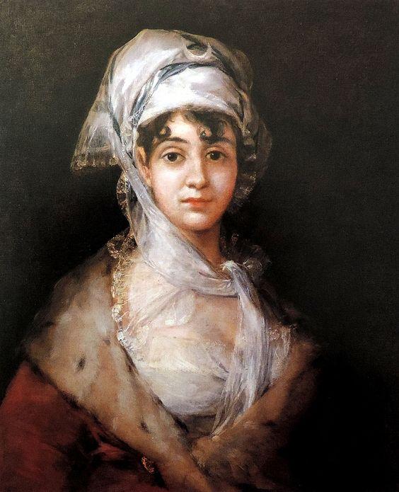San Petersburgo  (Hermitage)  Este retrato de San Petersburgo fue un encargo que Antonio Gil y Zárate, célebre poeta y autor dramático, e hijo de la actriz Antonia Zárate, le hizo a Goya después de la muerte de su madre ocurrida en 1811.