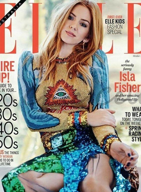 Isla Fisher wearing Gucci