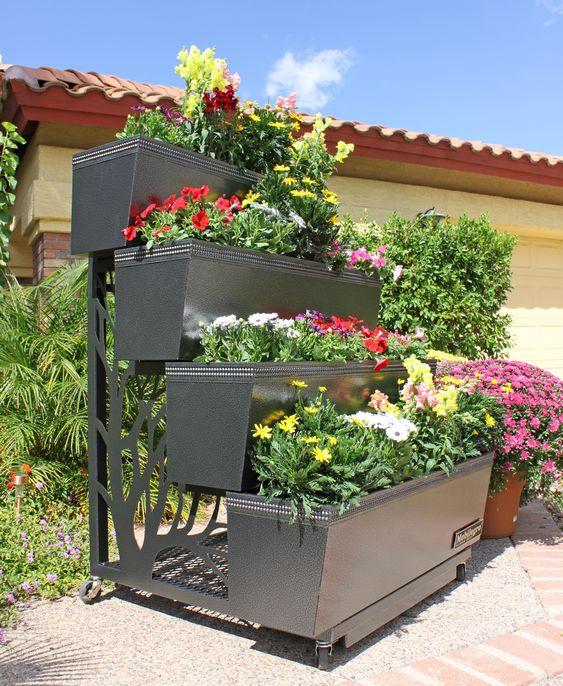20 Beautiful Flower Bed Ideas For Your Garden   Rooftop gardens, Garden  ideas and Balconies