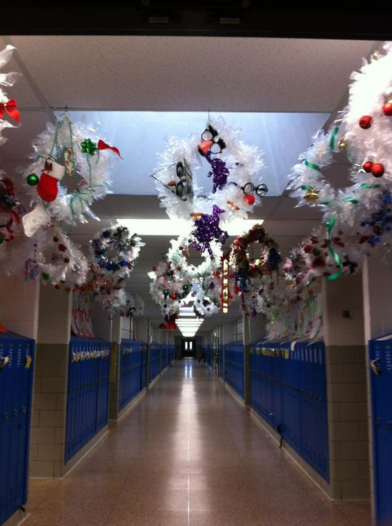 Holiday Wreaths- our school made it on Pinterest!!!!!! Thanks Jess!