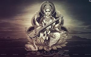 Goddess Saraswati HD Wallpaper #7