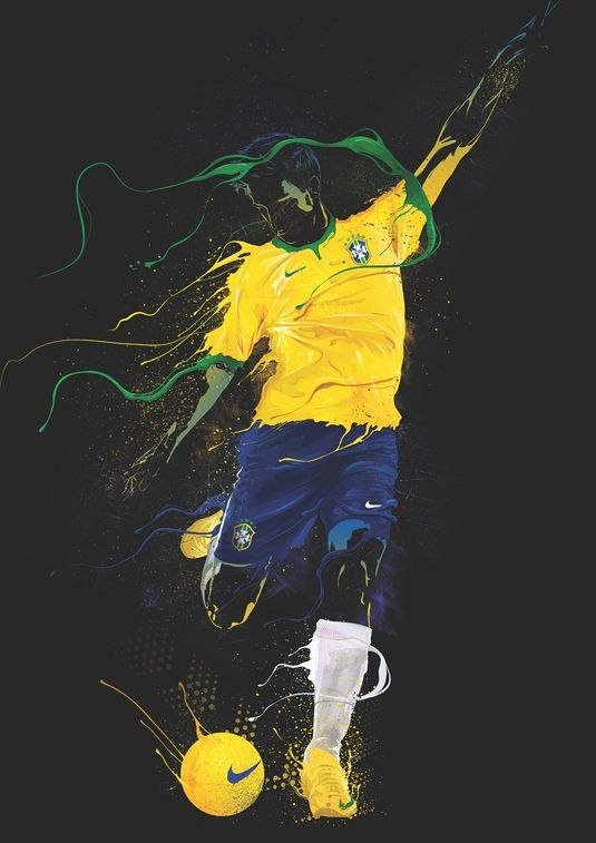 Singapore based studio Kult were commissioned by Nike to produce a series of artworks inspired by the sensory experience of football. They hand-picked 25 artists from around the world, giving each of them different brief relating to a Nike Football story and the results are really rather beautiful.