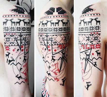 Beautiful tattoo norwegian sweater for Norwegian flower tattoo