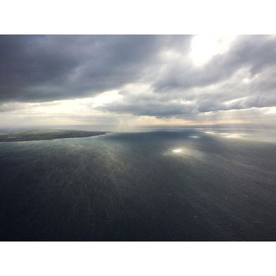 Over #portphillipbay looking towards #geelong and #portarlington  #helicopter #wind #clouds by jimi_chopper http://ift.tt/1KMCQ8M
