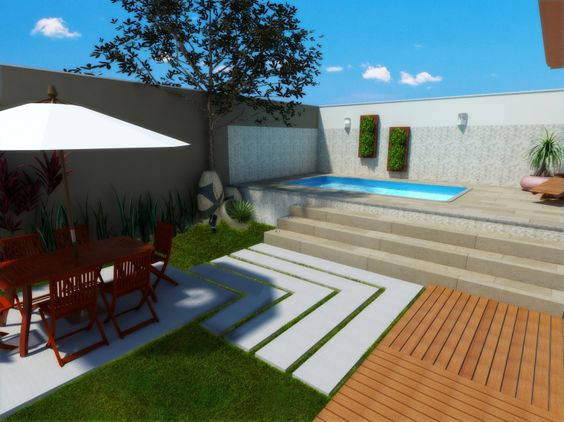 Rea de lazer com piscina pequena rea de lazer pinterest for Piscinas p 29 villalba