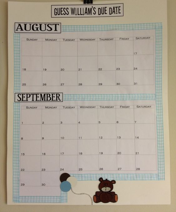 Guess The Birth Date Baby Shower Game: Due Date, Due Date Calendar And My Sister On Pinterest
