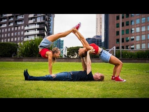 Extreme Yoga Challenge With Jordan Matter Youtube Three Person Yoga Poses 3 Person Yoga Poses Yoga Challenge Poses