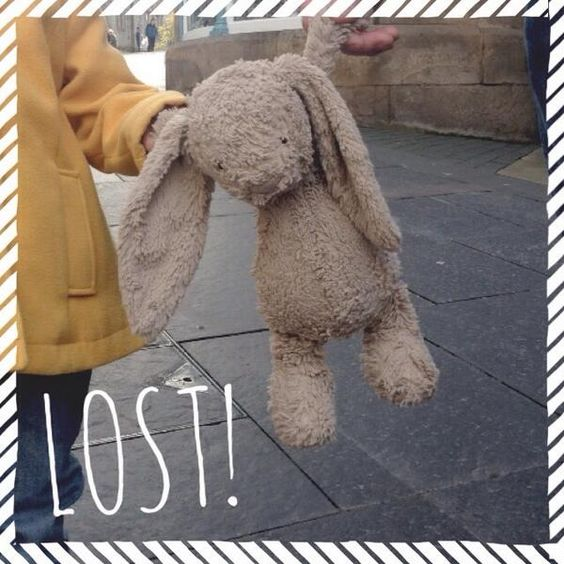 LOST in LONDON  This light brown jellycat bunny was lost between London Bridge and East Dulwich. Devastated little Ruby, age 3 via https://twitter.com/SimplyRuby or https://www.facebook.com/zstewart or https://www.facebook.com/FindMrRabbit or https://www.facebook.com/TeddyBearLostAndFound