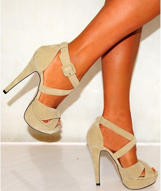 tan strappy heels | ... beige strappy high heels code n a 6 inch ...