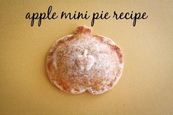Caramel Apple Mini Pie Recipe - yum!