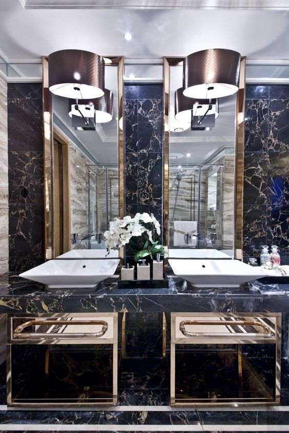 Millionaire's Grand Mansion ~ His And Hers Washbasins ~ 广州道胜设计-繁花似锦 保利大良中汇花园10栋301样板房【18p】_家居与别墅_建E设计部落 - Powered by Discuz!