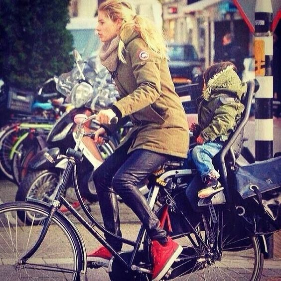 Canada Goose victoria parka online cheap - Doutzen Kroes in Canada Goose! Cycling through Amsterdam in her ...