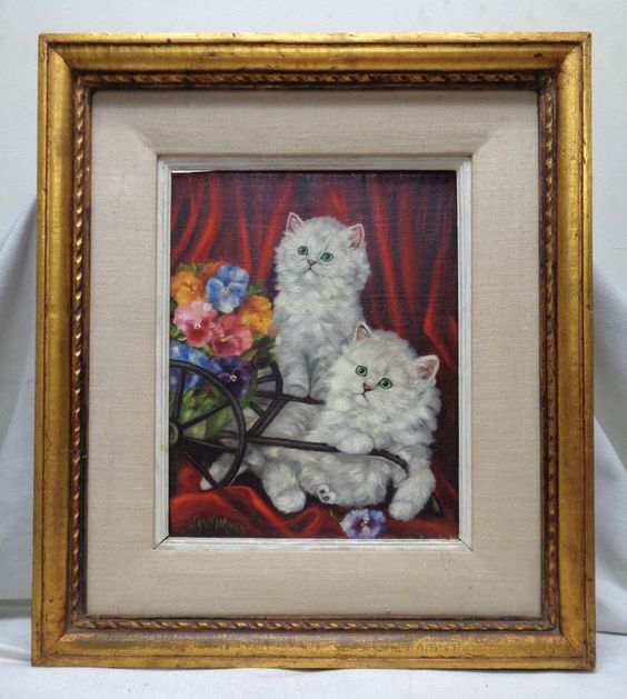 """Framed Vintage Janet Holmes Oil Painting on Canvas Panel """"The Flower Sellers""""  #Realism"""
