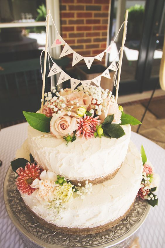 Pumpkin cake with cream cheese icing. Autumn wedding!