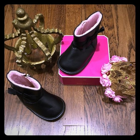 Juicy couture infant boots Brand new worn twice looks new no box 100% authentic. Adorable infant black w bow juicy couture boots  Size: 4c !!!Price is firm!!! selling on mercari $25 free shipping Jordan Other