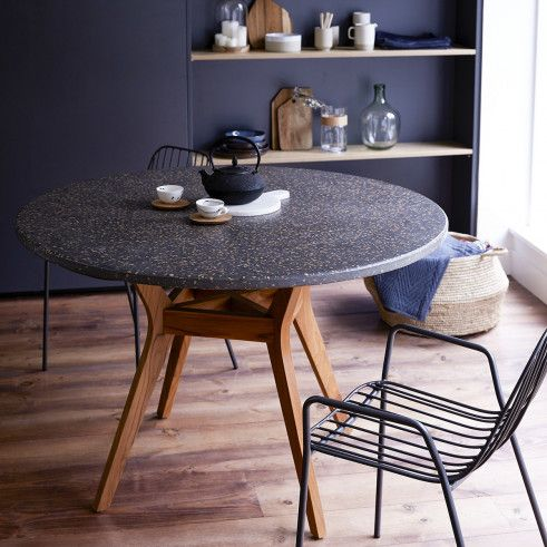 Teak And Terrazzo Table Sale Of Round Dining Tables Made From