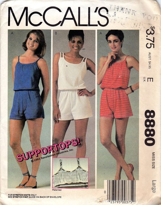 Creative McCalls Sewing Pattern 2976 Misses Womens Jumpsuit Romper Size 20 22 24 Uncut Type Sewing Pattern Brand McCalls Pattern Jumpsuit Romper MPN 2976 Gender Misses Womens Ladies Size 20, 22, 24 Occasions Casual
