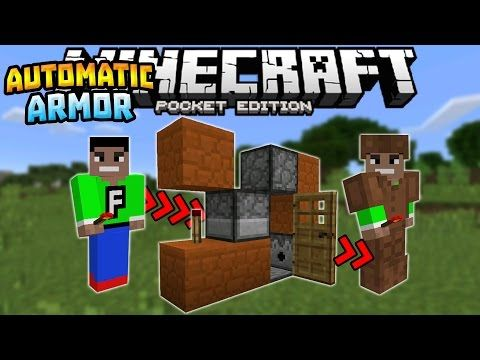 Automatic Armor Dispenser In Mcpe 0 16 0 Redstone Creation