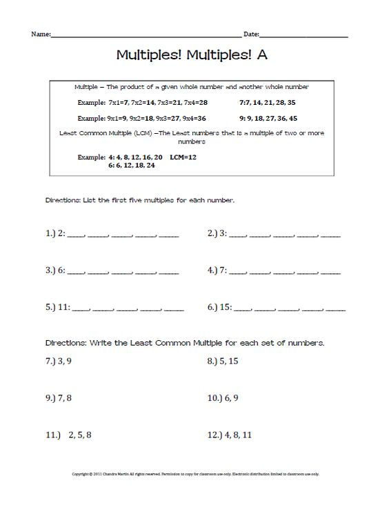 Multiples Worksheet Delibertad – Finding Multiples Worksheet