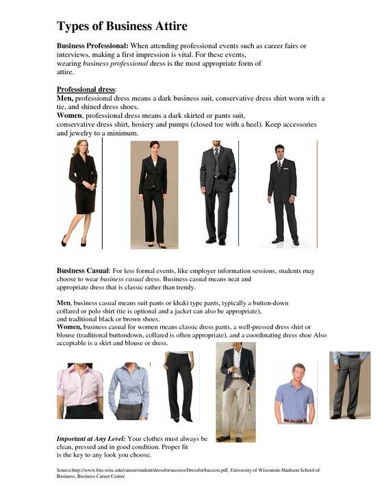 Dress code professional image definition