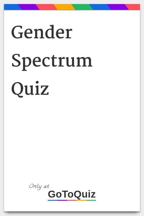 Quizzes gender identity What Is