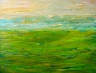 Acrylbild Grüne Landschaft   80 x 100 x 2 cm     100,00 €