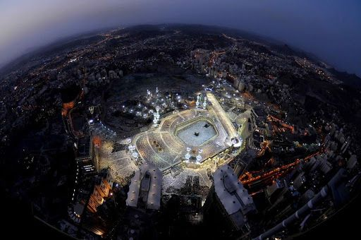 Masjidil Haram & Makkah from above | Beautiful mosques, Mecca images, Mecca