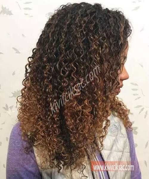 Nedir Nasil Yapilir Black Curly Hair Light Brown Balayage