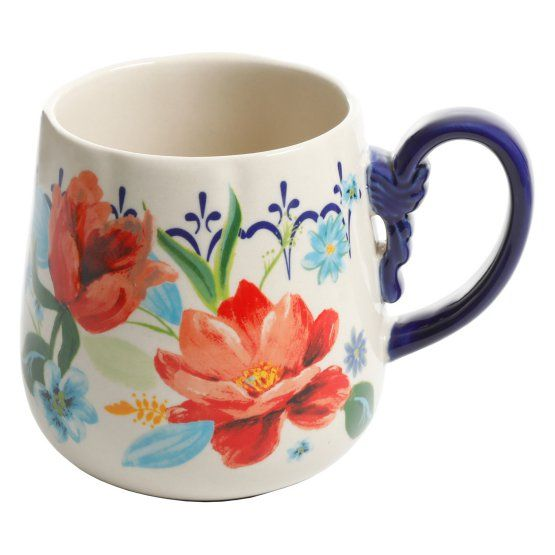 The Pioneer Woman Spring Bouquet 19 Oz Coffee Mugs Set Of 4 Pioneer Woman Spring Bouquet Mugs Set