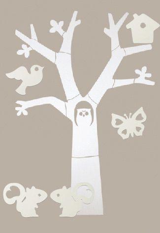 Houten boom wand karwei google zoeken babykamer for Houten decoratie boom