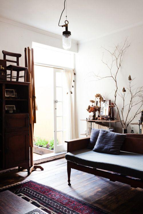 neutral living space + wabi sabi