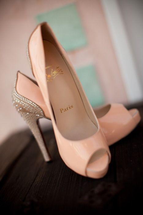 Paris peach high heels &lt3  Cinderella  Pinterest  Paris